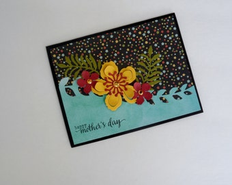 Mother's Day Card, Handmade Card, Floral Card, Mother's Day