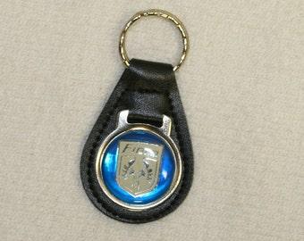 Vintage Leather Pontiac Fiero Keychain