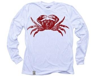 Red Crab: Organic Fine Jersey Long Sleeve T-Shirt