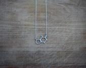 Sterling Silver Caffeine Molecule Necklace