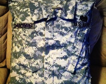Custome Military Pillow Case with pillow ( customer pays shipping both ways)