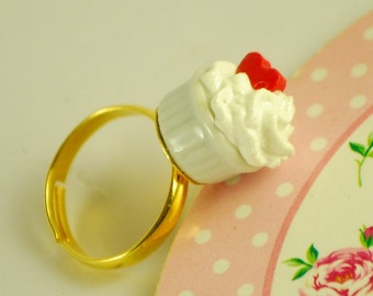 whipped cream ring - food jewelry