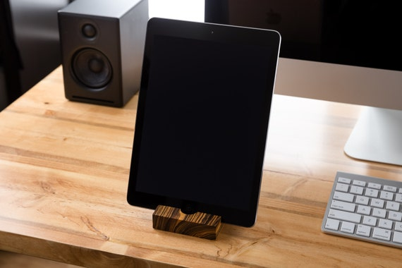 iPad Stand/ Walnut/ Tablet Stand/ iPad/ iPad Station/ tech gift / mens gift