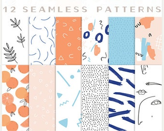 Good Vibes - JPG files - Seamless Patterns - Digital Scrapbook - Paper Pack
