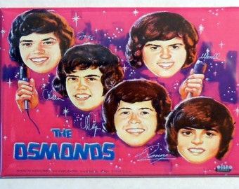 "The OSMONDS Metal LUNCHBOX 2"" x 3"" Fridge Magnet Art Vintage"