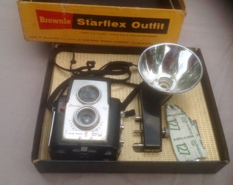 Camera, Brownie Starflex Outfit Camera Flash box