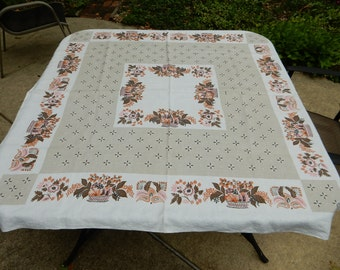 "Vintage Tablecloth 50"" x 50"""