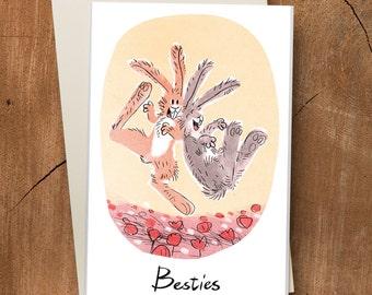 Friendship Card / Besties Card / Miss You Card / Best Friends