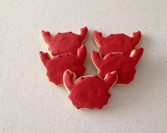 2 dozen Mini Crab Sugar Cookies