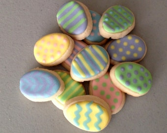 2 dozen Mini Easter Egg Sugar Cookies