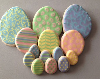 Easter Egg Sugar Cookie Platter (Small or Medium)