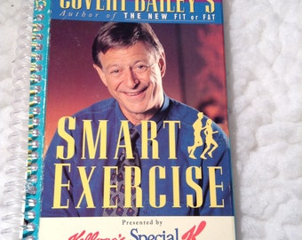 Recycled Kellogg's Special K Exercise VHS 100 Page Spiral Bound Blank Notebook Covert Bailey's Smart Exercise