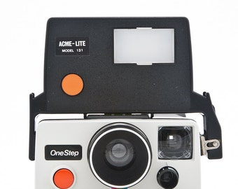 ACME - LITE Model 131 external flash unit for polaroid pronto & onestep rainbow presto camera tested and working