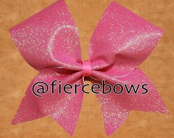 Iridescent Coral Glitter Bow