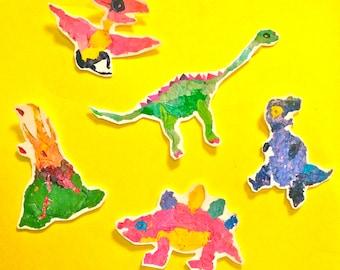 Dinosaur and Prehistoric Reptile Temporary Tattoo Pack