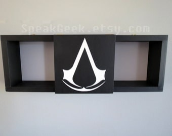Assassin's Creed - Shadow Box Shelf - Home Decor- Cubbie Shelf - Hand Made - Hand Painted - MADE TO ORDER