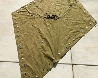 Vintage Dutch Military Diamond Tarp