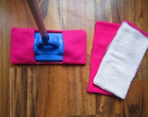 Reusable mop/duster sets in pink