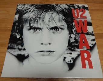 U2 WAR Vinyl Record LP Album 1983