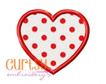Valentine Embroidery Design, Heart Embroidery Design, Heart Applique Design, Instant Download