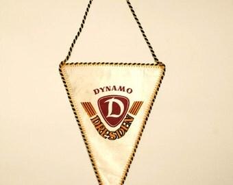 Retro Soccer Pennant for German Club Dynamo Dresden