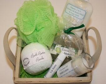 Cucumber Melon Gift Basket