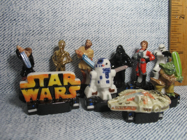STAR WARS 10 pc set Luke Darth ObiWan R2 D2 Darth Maul C 3Po