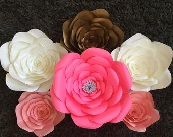 Paper Flower Set of 6