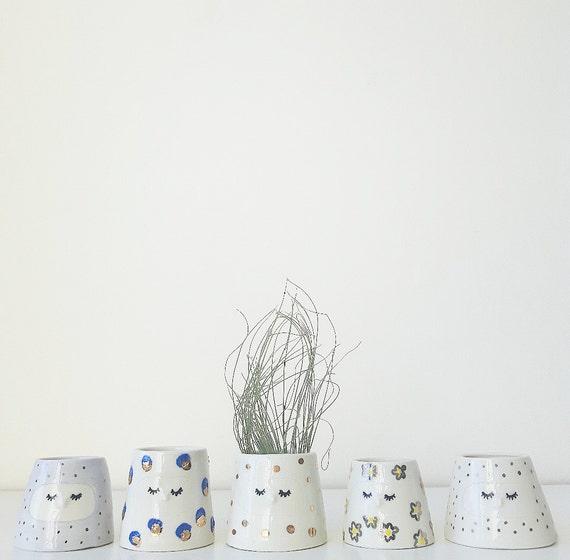 Pots pour plantes à visage