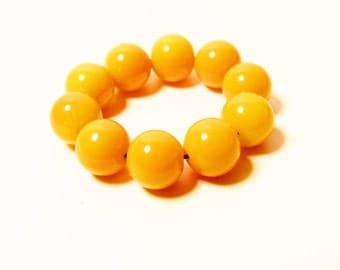 D-00958 - 10 Glass beads 8mm Orange