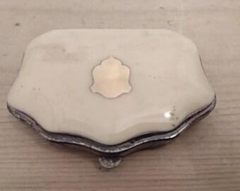 Antique silver inlaid Bone purse