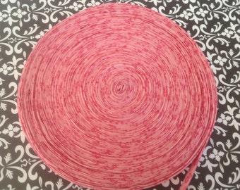 """Pink pinwheel quilt binding 1/2"""""""