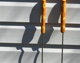 Hot Dog Stick, Set of Two Roasting Sticks, Marshmallow Roasting Stick, Weiner Roasting Stick
