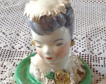 Vintage Woman head/bust  figurine