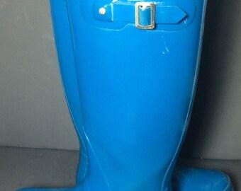 HUNTER Blue Rubber Rain Boots Women's Size 9