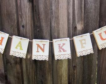 Small Thankful Banner
