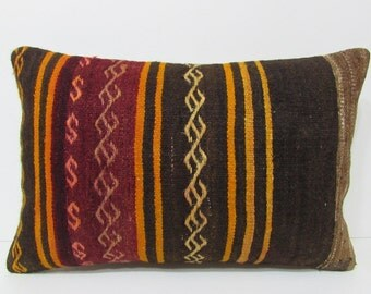 16x24 Accent Sofa Pillow Cover Ethnic Kilim By