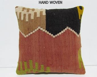 fall kilim pillow moroccan rug pillow bohemian pillow case chevron pillow cover primitive decor kilim rug pillow wool rug throw pillow 33218