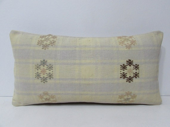 Long Decorative Lumbar Pillow : decorative pillow knitted pillow case long lumbar pillow boho