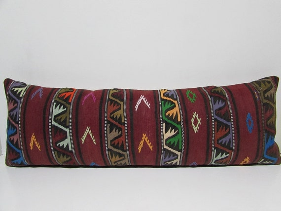 16x48 kilim pillow sham large decorative pillow king pillow