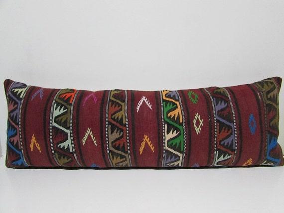 Decorative King Pillow Shams : 16x48 kilim pillow sham large decorative pillow king pillow