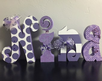 Custom wood letters. Nursery letters. Baby shower decor. Wedding decor. Wedding letters. Finished letters. Wood le