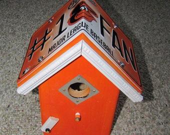 Baltimore Orioles - License Plate MLB Edition Birdhouse - Bird House = Team bird house