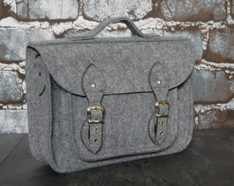 Felt Laptop bag 13 inch, felt satchel, macbook pro, macbook air 13 inch sleeve, case, bag with strap buckle