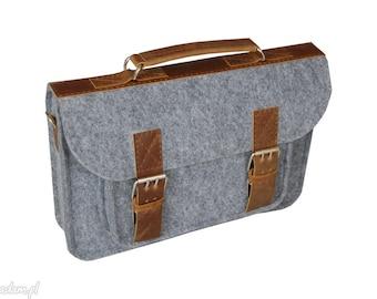 SALE !!! Satchel, bag for laptop, gray laptop bag 13inch, macbook Air 13 inch case,