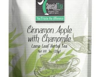 3 oz. Cinnamon Apple with Chamomile Herbal Tea with Free Tea Infuser