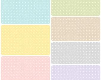 Sorbet Mini White Polka Dots Cotton Fabric! [Choose Your Cut Size]