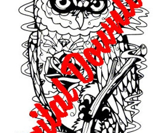 Day of the Dead Owl INSTANT DOWNLOAD SVG for cutting machines