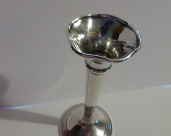 vtg Miniature Small BUD Vase Posey Holder Sterling Silver 925 ss Silber FREE SHIPPING usa