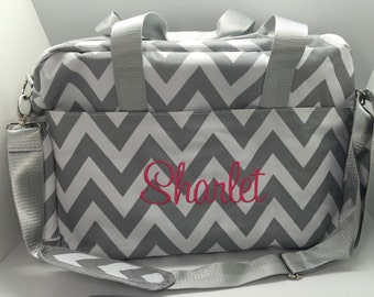 Monogram Diaper bag, Personalized girl boy diaper bag, Diaper bag for boys, baby shower gift, bag for girls, name personalized gift chevron